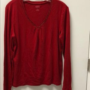 Talbots L/S TOP with bling